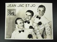 Firmado Jean Jac Y Jo Jean Irace Henri Juvet Y Marcel Herman 1936A Chabot