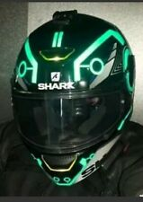 TRON STYLE HELMET DECALS STICKERS GREEN BLUE WHT RED BE SEEN NIGHT SAFTEY HIVIZ