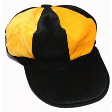 Yellow and Black Baker Boy style hat cap