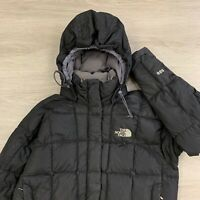 The North Face 600 Down Insulated Parka Jacket Black Womens Size Small
