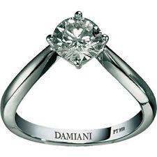 Anello Solitario Damiani forme della femminilità 81009806 diamante ring platino