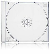 100 x Single CD Jewel Case Cases 10.4mm Spine Clear Tray HIGH QUALITY PLASTIC