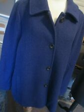 LADIES PURPLE LINED WOOL MIX COAT, LANDS' END, SIZE 22, EXC-CON