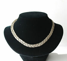 Vintage Silver Tone Multi Chain Necklace