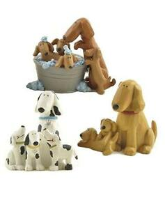 Blossom Bucket...Dogs with Puppies Figurine-You CHOOSE-priced each *So Cute*
