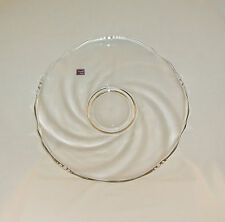 """Elegant Lenox Imperial Glass 14"""" Scalloped Edge Clear Glass Platter/Tray~w/Label"""