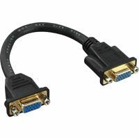 InLine® VGA Adapterkabel, 15pol. VGA Buchse auf Buchse, zum Einbau, vergoldete K