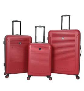 Riverside 3-Pc Red Hardside Luggage Set 6012