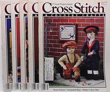 Lot of 5 Leisure Arts Cross Stitch & Country Crafts Mar/Apr thru Nov/Dec 88.1269