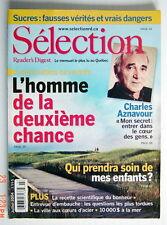 SÉLECTION DU READER'S DIGEST DE JUILLET 2004, EN COUVERTURE CHARLES AZNAVOUR