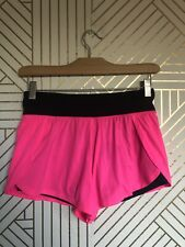 Victoria's Secret VSX Sexy Sport Hot Pink & Black Workout Shorts Running Sz XS