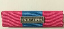 Rappel  médaille DEFNAT Défense Nationale Bronze avec agrafe TROUPES DE MARINE