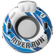 """✨Intex River Run 1 Sports Lounge Inflatable Floating Tubing Water 53"""" Raft BLUE✨"""