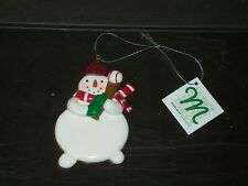 Midwest Seasons Christmas Tree Ornament / Snowman Playing Baseball