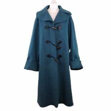 Jaeger Duffle Coat Blue Wool Cashmere & Angora Womens 14