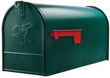 Green Mailbox Elite Large Size Parcel Mail Steel Post Mount Steel Powder Coat