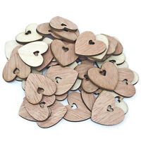 25mm Double Plain Hearts Wooden Shabby Chic Craft Scrapbook Vintage Confetti