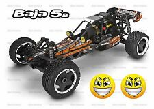 Hpi baja 5b 5t 2.0 SS cara sonriente pegatinas faros light pod decal sticker