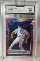 2020 Donruss Dustin May Pink Prizm Rated Rookie GMA 10 GEM MT