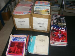 Crystal Palace  Collection x 350 programmes