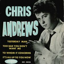 CHRIS ANDREWS Yesterday Man EP Vinyl Record 7 Inch French Disques Vogue 1965