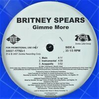 """BRITNEY SPEARS """"GIMME MORE"""" 2007 12"""" PROMO VINYL SINGLE 6 MIXES ~RARE~ *SEALED*"""