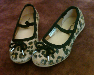 Carter's Toddlers Girls Shoes - Faux Hair Leopard Animal Print Shoes with Bow