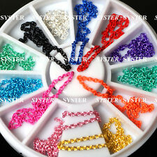 12 Colors 3D Nail Art Mixed Chain Decoration + Wheel #SB-011