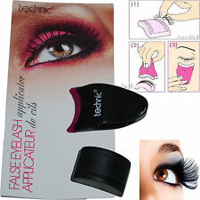 TECHNIC FALSE EYELASH APPLICATOR FAKE LASHES EYES BEAUTY CLIP TOOLS HOLDER