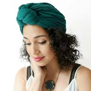 Women Cotton Turban Headband Girls Knotted Headwrap