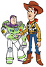 TOY STORY iron on transfer light/dark 2 sizes a6/a5