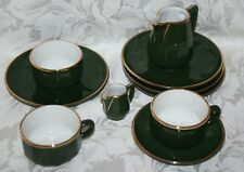APILCO BISTRO ENSEMBLE OF 2 COFFEE CUPS, 1 SUGAR BOWL, 2 JUGS AND 4 PLATES