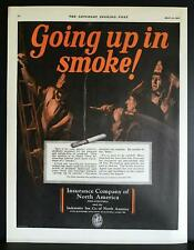 1927 Fire Fighters Careless Smokers Cigarette Butts Vintage Print Ad