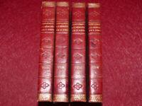 SAINT SIMON MEMOIRES Supplement 4/4 ED.ORIGINALE 1789 1/2 reliure époque cerise