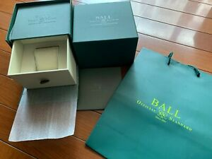 Genuine BALL watch case box and shopping bag, NEW, unused