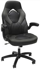 Essentials by OFM Ess-3085 Racing Style Bonded Leather Gaming Chair Gray