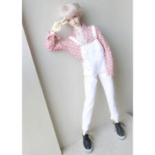 "White Suspender Pants Trousers For Female BJD 1/3 24"" SD AOD AS Luts dollfie"
