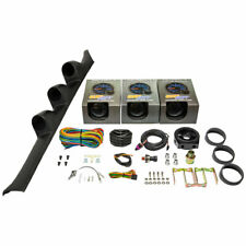 GlowShift Boost, Oil Psi, Water Temp Gauges + Black Pod for 92-95 Honda Civic