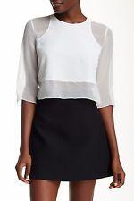 NWT $255 Elizabeth and James Enno Silk Blouse Ivory [SZ Small] #989