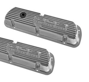 New! Mustang Falcon Bronco Fairlane Cougar 302 Valve Covers Aluminum Polished Pr