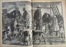 JOURNAL DES VOYAGES N° 615 de 1889 ANGLETERRE CHASSE CHIEN FOX HUNTING / ISLANDE