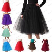 5 Layer Tulle Petticoat Tutu Underskirt Vintage Fancy Net Skirt Prom Rockabilly