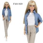ELENPRIV FA-039 shirt  top  pants outfit for Barbie MTM and similar dolls