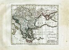 IMPERO OTTOMANO TURCHIA GRECIA ALBANIA CARTA GEO 1797 Blondeau Turkey Map