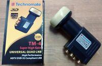 TECHNOMATE TM-4 SUPER HIGH 0.1dB QUAD UNIVERSAL LNB - BNIB