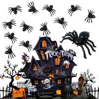 50 PCS Halloween Black Luminous Spider Festival Decoration Funny Prank Toys
