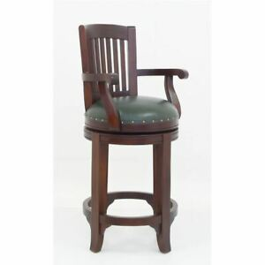 Solid Mahogany Wood Carver Arm Chair Antique Reproduction Style Queen Ann