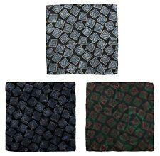 Lot of 3 Men's SANTOSTEFANO Abstract Silk Pocket Square Handkerchief