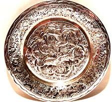 Silberteller Persien handarbeit getrieben