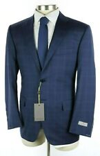 NWT $2195 CANALI 1934 Navy Check Year-Round Wool Suit Modern-Fit 40 R (50 Eu)